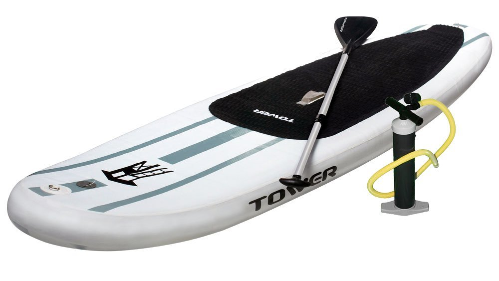 "Tower Paddle Boards Adventurer Inflatable 9'10"" Stand Up Paddle"