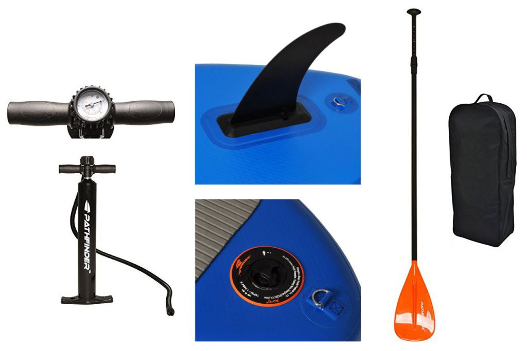 pathfinder inflatable stand up paddle board accessories
